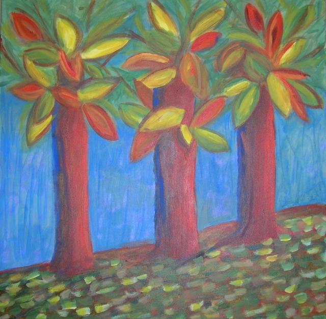 large 3 trees